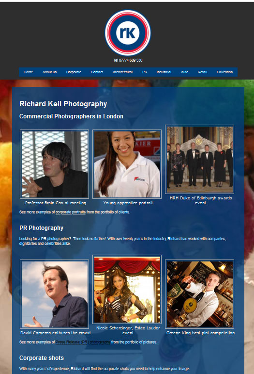 Richard Keil Photography London's Website